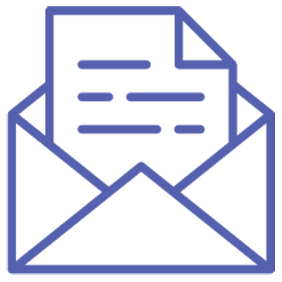 Logo of a letter depicting mail or email