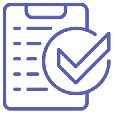 Logo of a clipboard with a checklist for planning and solving problems