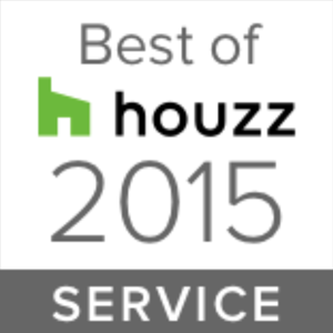 Houzz award badge for best in service in 2015