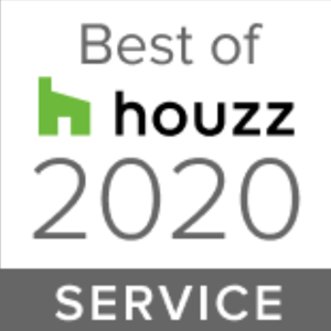 Houzz award badge for best in service in 2020